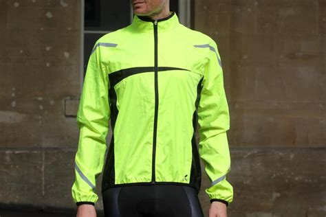 road bike waterproof jacket review b twin 500 high visibility waterproof cycling
