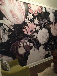 Floral Wall Mural tnwallpaperhanger watercolor wall mural amp dark floral