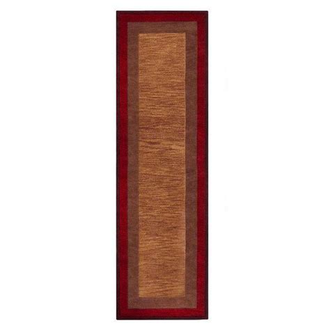 Karolus Area Rug Home Decorators Collection Karolus Rust 2 Ft 9 In X 14 Ft Runner 3242285180 The Home Depot