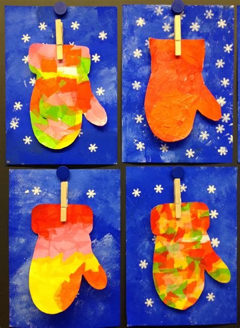 january craft projects mitten project for graders beautiful and
