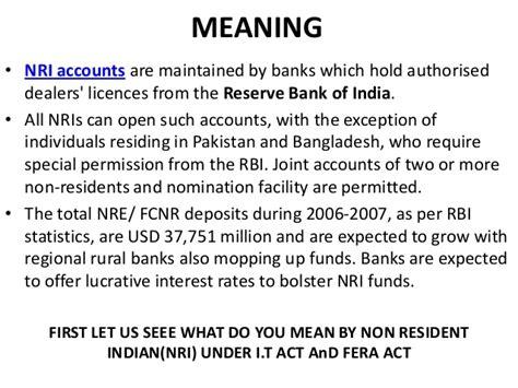 definition of a banker nri banking ppt