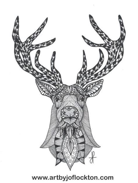 coloring pages for adults deer tangled deer head adult colouring animals zentangles