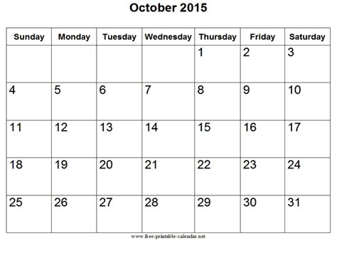 Calendar Of October Calendar For October
