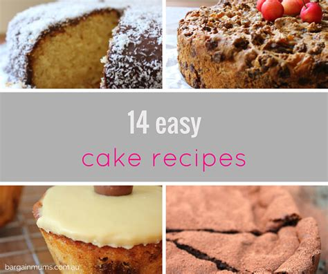 cake recipes easy 14 easy cake recipes bargain mums
