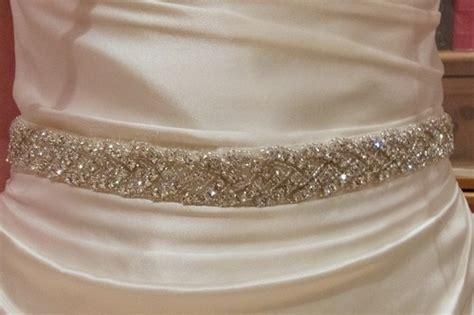 beautiful bridal dress sash diamante rhinestone