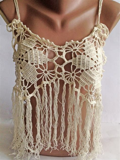 crochet top halter summer top bohemia top crochet lace top festival