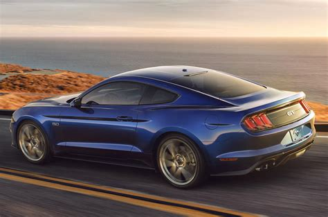 new ford mustang 2018 2018 ford mustang convertible facelift revealed autocar