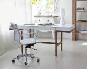 Home Office With Two Desks Two Affordable Home Office Desks With A Vintage Vibe At Home With Vallee