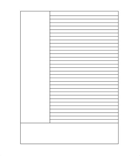 Blank Cornell Note Template 4 Free Sle Exle Format Download Free Premium Templates Notes Plus Templates