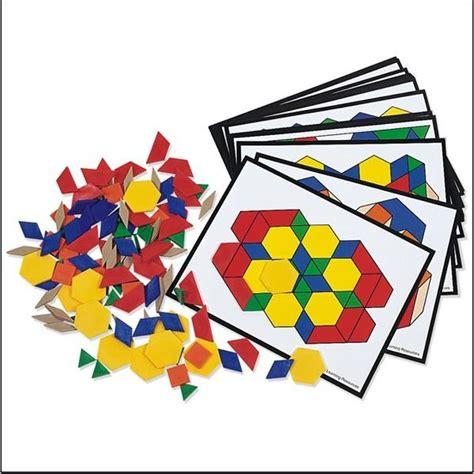 pattern block cards pattern blocks and activity cards set preschool math