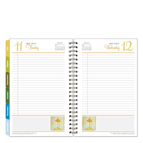 Home Office Layout Planner her point of view wire bound six month planning notebook