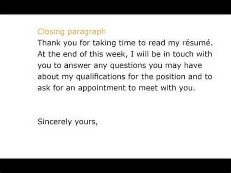 job application cover letter youtube