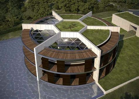 sustainable eco house   form  football