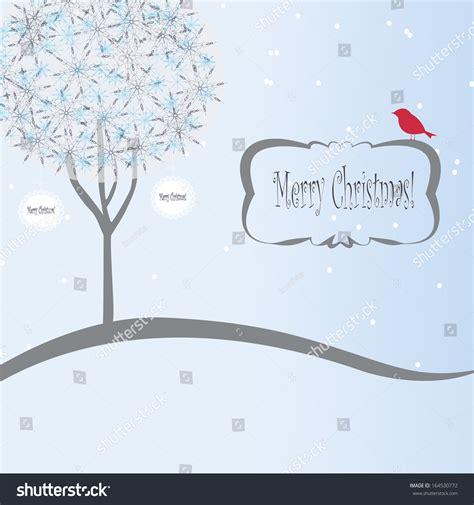 winter design trees retro art template abstract beautiful christmas new year background xmas retro stock vector