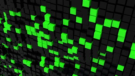 Ready Camel Black N Green 1 black cubic surface in motion loop ready animation of cubes moving up and stock footage