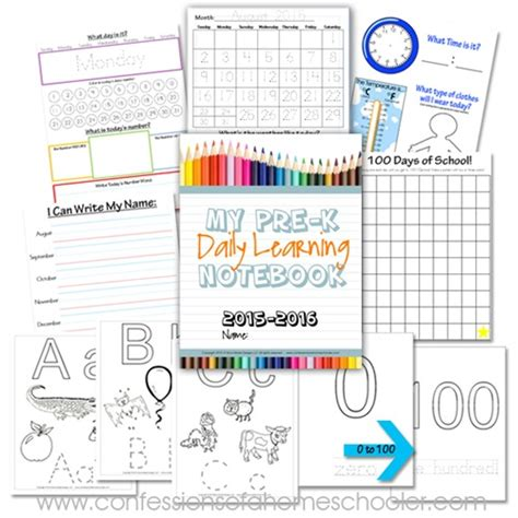 printable calendar 2015 notebook preschool daily learning notebook 2015 2016 confessions