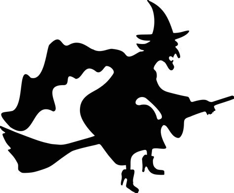 free clipart silhouette witch flying silhouette free vector clipart