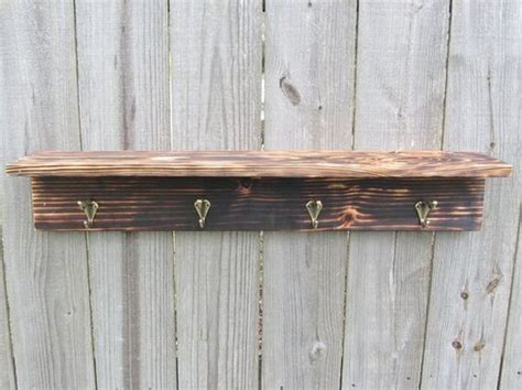 rustic woodworking ideas rustic wood projects rustic wood shelf with hooks