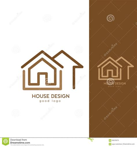 Modern House Logo Design Template Flat Simple Cartoon Vector Cartoondealer Com 90676073 Modern Logo Template