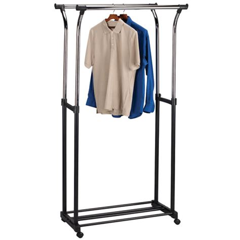 flared adjustable clothes rack in clothing racks