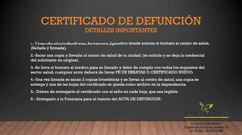 certificado de defuncion certificado de defunci 243 n youtube youtube