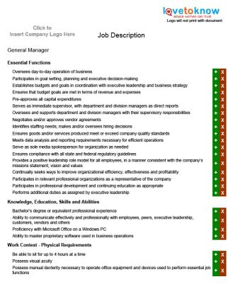 generic description template description exles cv resume templates exles