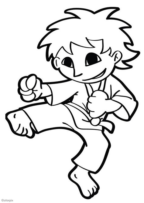 coloring page karate about me