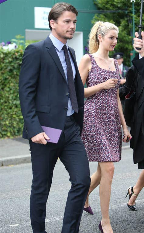 pregnant tamsin egerton and josh hartnett spotted at wimbledon daily josh hartnett at wimbledon with girlfriend tamsin egerton