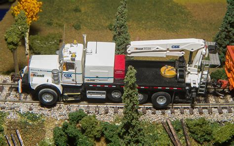 brand kenworth truck csx brandt hi rail kenworth t800h m o w truck