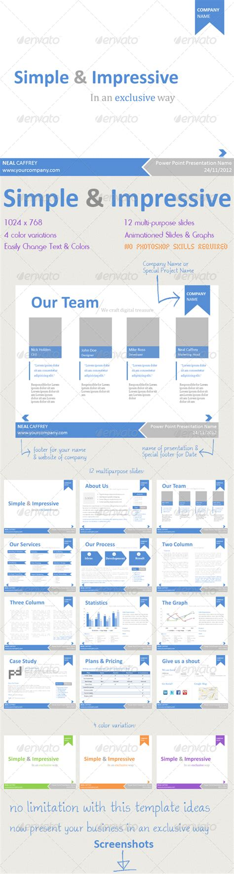 simple impressive powerpoint template graphicriver