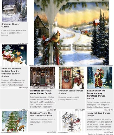 country christmas shower curtain country christmas shower curtain