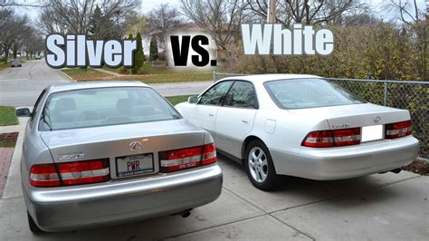 2001 lexus es300 2001 lexus es300 sedan silver vs white comparison 4th