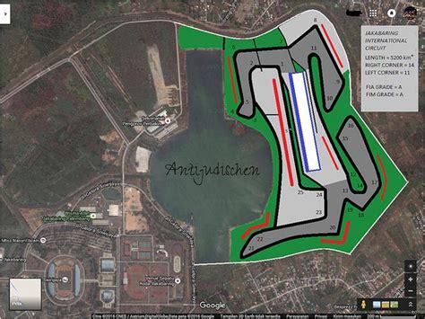 rencana layout sirkuit sentul denah sirkuit palembang berada di dekat danau kawasan