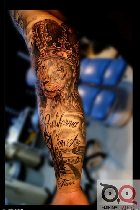 lion sleeve tattoo designs king tattoos and designs page 3