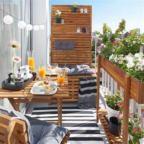 ideen balkon sichtschutz bank akazie fsc 100 80x44x170 cm natur