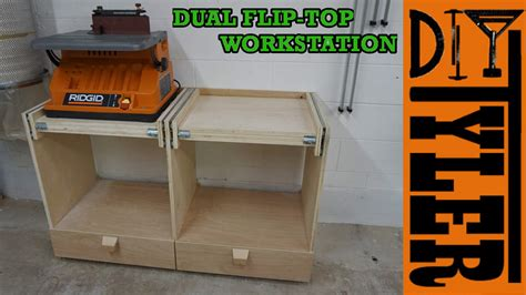 double flip top workstation diytyler