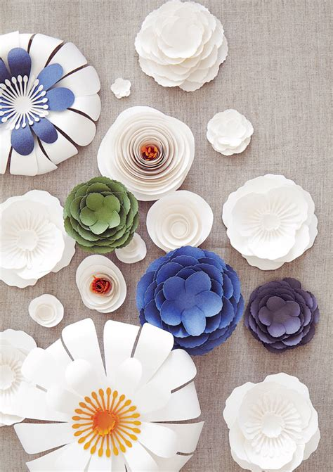 Flower Ideas With Paper - paper flower wedding anniversary by knot pop wedding