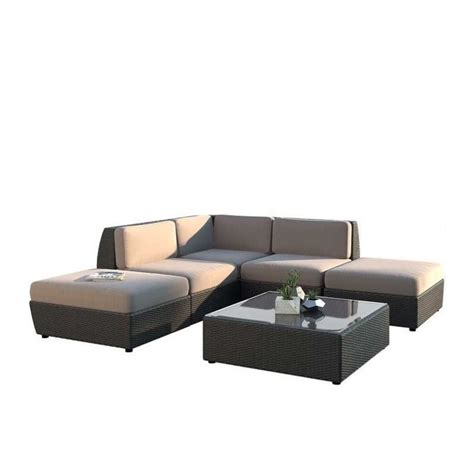 Curved Sectional Sofa With Chaise Curved 6 Pc Chaise Lounge Sectional Patio Set Pps 607 Z