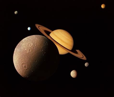 saturns largest moons the moons of saturn