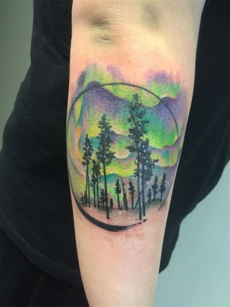 green tattoo 50 mountain tattoos tattoofanblog