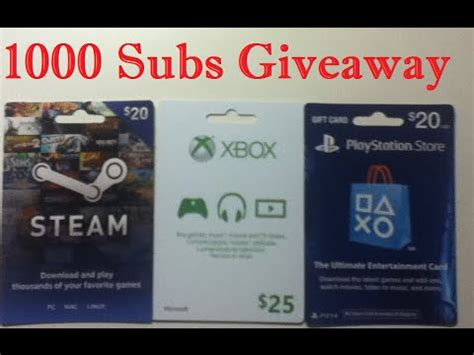 Playstation 1000 Giveaway - closed 1000 subscribers giveaway xbox playstation and steam wallet cards youtube