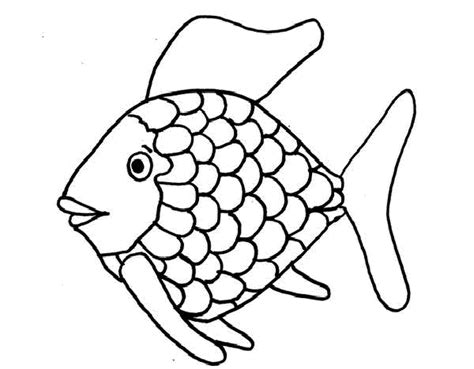 rainbow fish printable coloring page coloring home