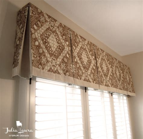 Custom box pleat valance traditional indianapolis by julia laura interior designs