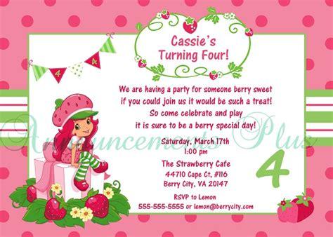 Strawberry Shortcake Birthday Invitations Ideas Bagvania Free Printable Invitation Template Strawberry Shortcake Invitation Template Free