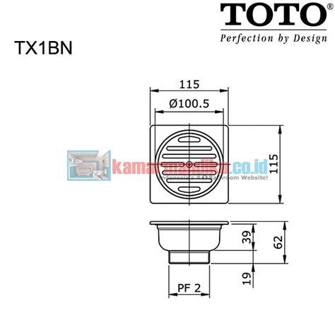 Toto Floor Drain With Square Flange Tx1bv1n toto tx1bn floor drain with square flange distributor