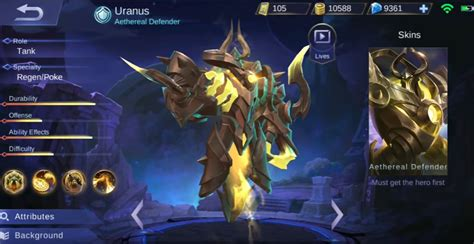 mobile legend new new uranus mobile legends