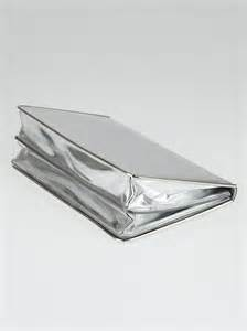 Mirror Clutch Bag by Christian Silver Mirror Calfskin Leather Clutch Bag