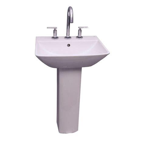 bathroom sink combo kokols parada pedestal combo bathroom sink in clear wf 41 the home depot