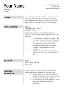 Resume Templates That Are Really Free Free Resume Template Downloads Lifiermountain Org