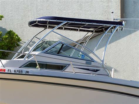t top for walkaround boat custom half tower tops for walk arounds walk thru boats